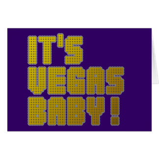 ¡Su bebé de Vegas! Tarjeta De Felicitación
