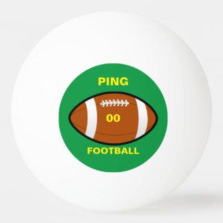 Su bola de ping-pong del fútbol del equipo pelota de ping pong