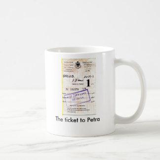Su boleto al Petra Taza