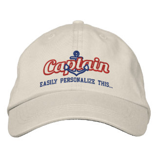 Su bordado náutico conocido del capitán de mar gorra bordada