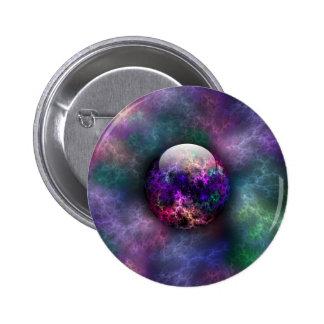 Su botón brillante de los materiales pin redondo de 2 pulgadas