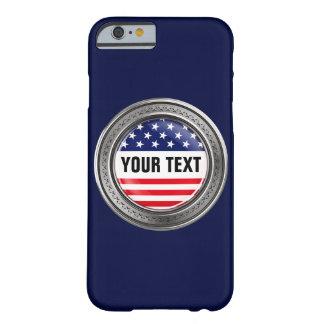 Su botón de los E.E.U.U. del personalizado Funda Barely There iPhone 6