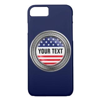 Su botón de los E.E.U.U. del personalizado Funda iPhone 7