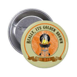 Su Brown de oro, botón del día de padre Pin Redondo De 2 Pulgadas