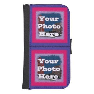 Su caja de encargo de la cartera de la galaxia S4 Billetera Para Teléfono