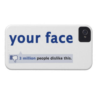 su caja intrépida de Blackberry de la cara iPhone 4 Case-Mate Protectores