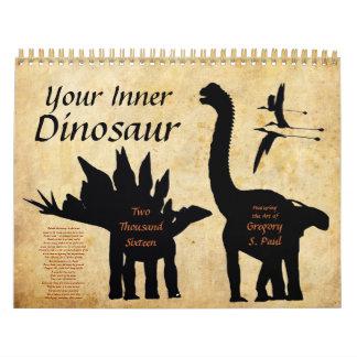 Su calendario interno 2016 del dinosaurio 2