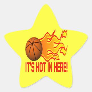 Su caliente adentro aquí pegatina en forma de estrella