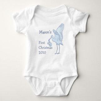 Su camiseta 2010 del bebé del navidad del nombre playera