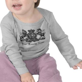 Su camiseta adaptable del bebé del escudo del