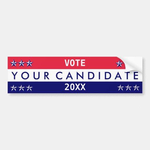 Su candidato: Cree sus los propios Etiqueta De Parachoque