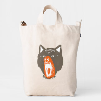 Su cara conocida personalizada del oso salvaje y bolsa de lona duck