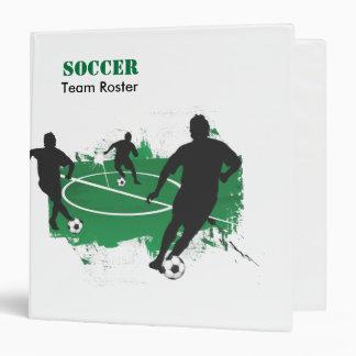 Su carpeta del equipo de fútbol