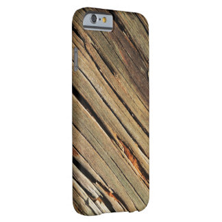 Su caso de madera rústico de encargo del iPhone Funda De iPhone 6 Barely There