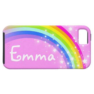 Su caso rosa claro del iphone del arco iris de la iPhone 5 coberturas