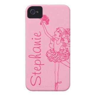 """""""Su caso rosado"""" de la bailarina conocida iphone4S Case-Mate iPhone 4 Protectores"""