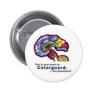 Su cerebro en Colorguard Pin Redondo 5 Cm