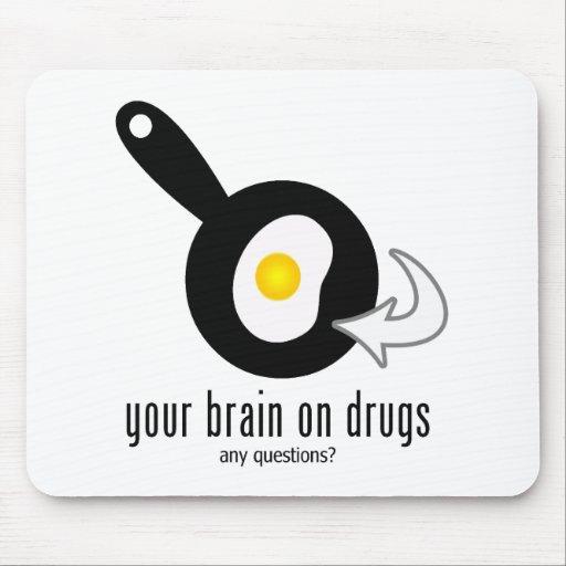 Su cerebro en las drogas alfombrilla de raton