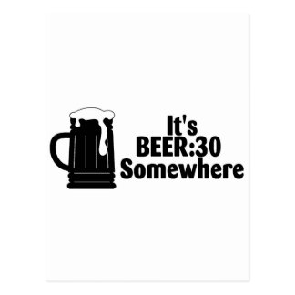 Su cerveza 30 en alguna parte postal