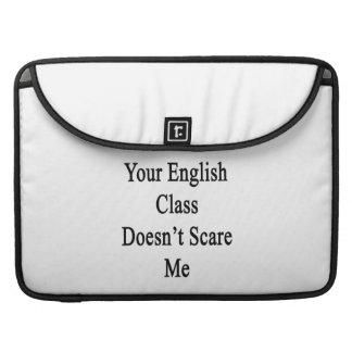Su clase de inglés no me asusta fundas para macbooks