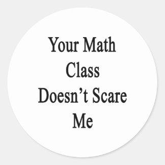 Su clase de la matemáticas no me asusta