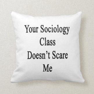Su clase de la sociología no me asusta cojines