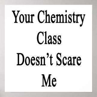 Su clase de química no me asusta impresiones