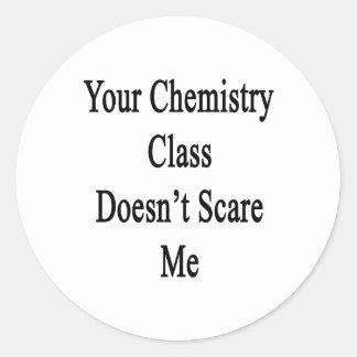 Su clase de química no me asusta etiquetas