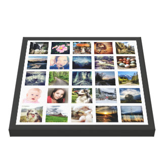 Su collage de la foto del personalizado 25 de las impresiones en lona