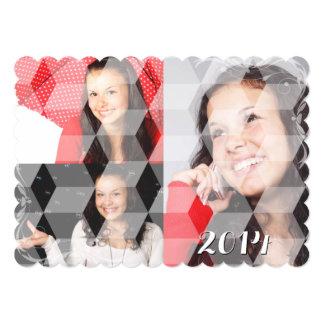 SU collage de la graduación de las FOTOS cubicado Comunicados Personalizados