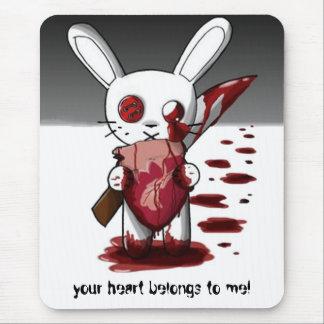 ¡su corazón pertenece a mí! alfombrilla de ratón