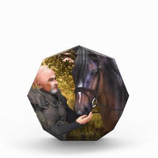 Su corcel noble - caballero y su caballo