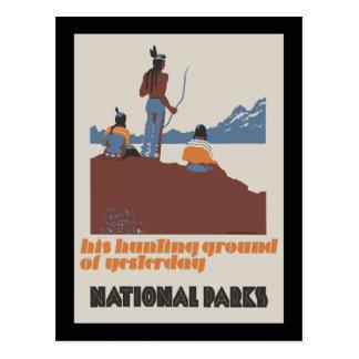 Su coto de caza de los parques nacionales del ayer postales