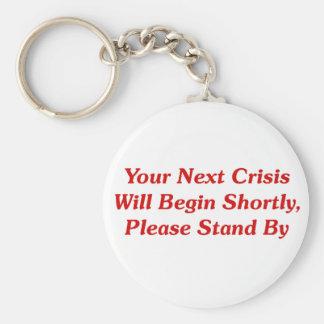 Su crisis siguiente comenzará pronto,… llavero redondo tipo pin