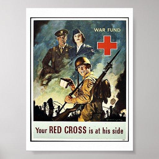 Su Cruz Roja está en su lado Póster