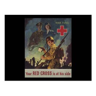 Su Cruz Roja está en su lado Postales