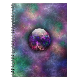 Su cuaderno brillante de los materiales