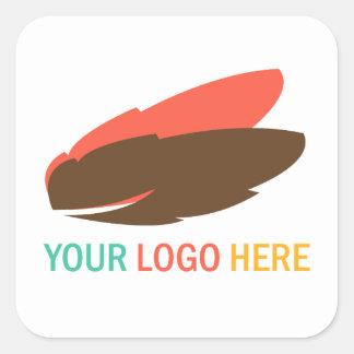 Su cuadrado del logotipo de la compañía o del pegatina cuadrada