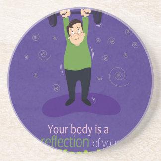 Su cuerpo es una reflexión de su forma de vida posavasos de arenisca