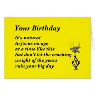 Su cumpleaños - un poema divertido del cumpleaños tarjeta de felicitación