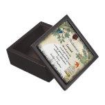 Su dama de honor del boda le agradece regalo cajas de joyas de calidad