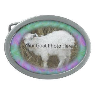 SU de la cabra de la foto hebilla del cinturón púr Hebilla Cinturon Oval