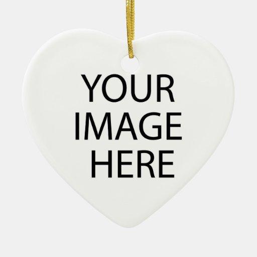 Su de la imagen ornamento del corazón aquí adornos de navidad