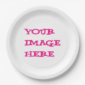 Su de la imagen placa de papel aquí plato de papel 22,86 cm