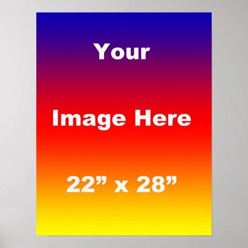 Su de la imagen plantilla 22 x 28 aquí poster