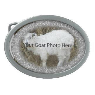 SU de la pepita de la cabra de la foto hebilla del Hebilla Cinturon Oval