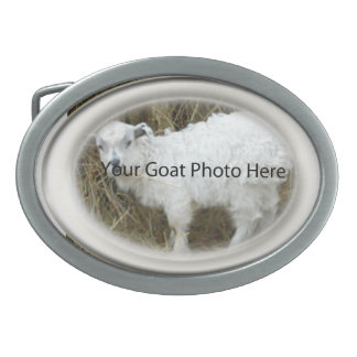 SU de la perla de la cabra de la foto hebilla del Hebilla De Cinturón Oval