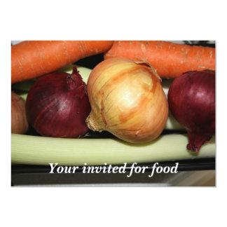 Su de las verduras invitado para la invitación de