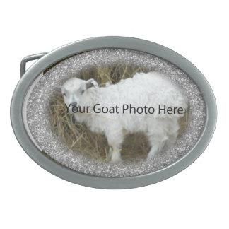SU del brillo de la cabra de la foto hebilla del Hebilla Cinturon Oval