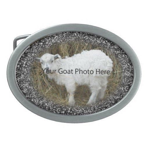 SU del brillo de la cabra de la foto hebilla del Hebillas Cinturon Ovales